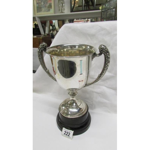 222 - A Birmingham 1912 silver trophy, 530gms/18.70z, Skellingthorpe British Legion on base with dated shi...