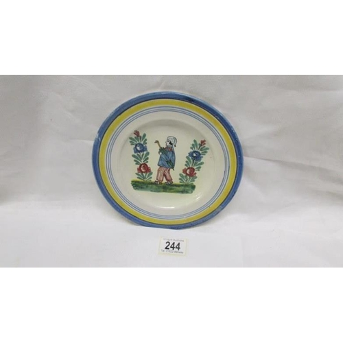 244 - An early French Quimper plate...