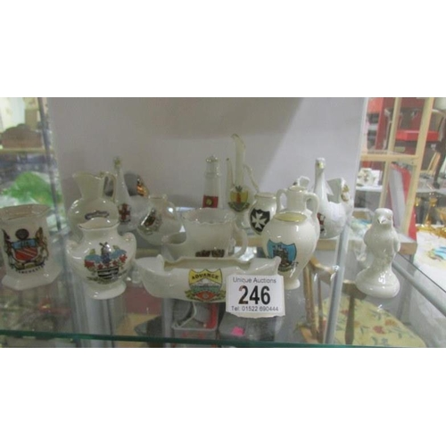 246 - A mixed lot of crested china...