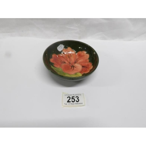 253 - A Moorcroft floral bowl...