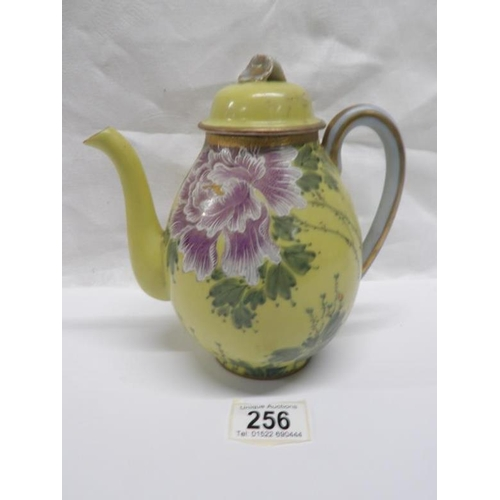 256 - A 1920's Japanese hand painted tea pot...