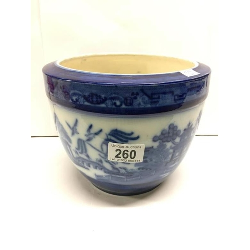 260 - A Minton flo blue jardiniere...