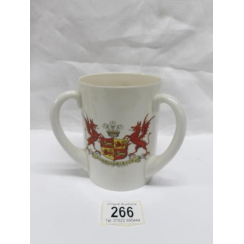 266 - A large Goss Arms of Wales loving cup...