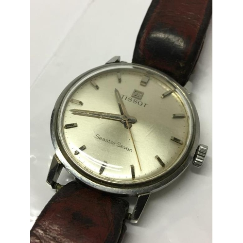 285 - A vintage gents Tissot wrist watch...