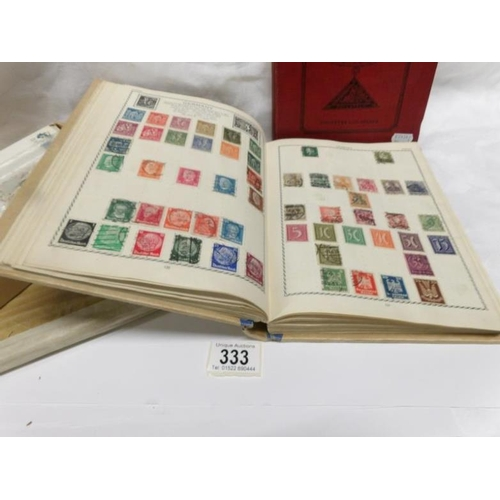 333 - 5 albums and a box of British, Empire, Commonwealth and foreign stamps...