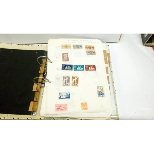 339 - 5 folders of European and world stamps...