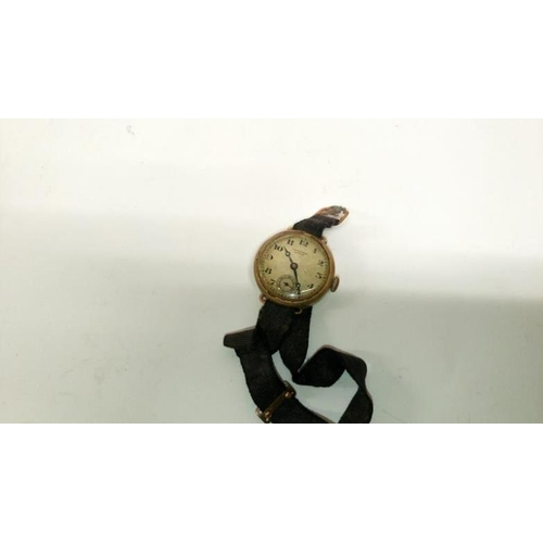 349 - 2 Gent's 9ct gold wrist watches both a/f...