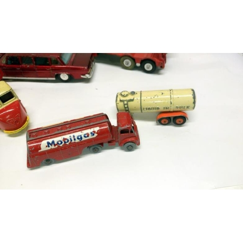 371 - A quantity of unboxed playworn and repainted Dinky and Lesney toys...