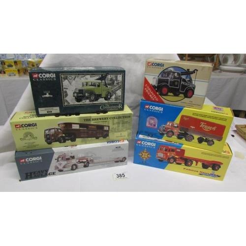 385 - 6 boxed Corgi classics commercial vehicles...