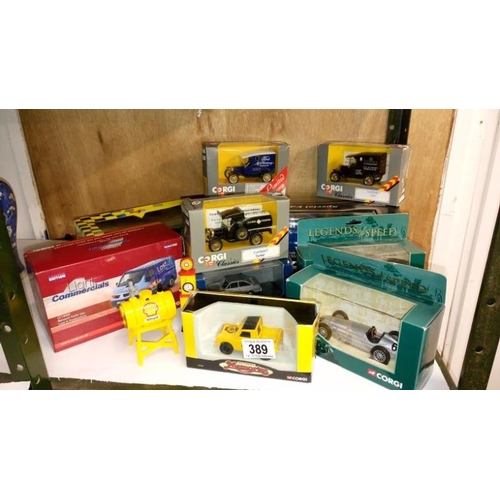 389 - A quantity of mainly Corgi boxed models including limited editions...
