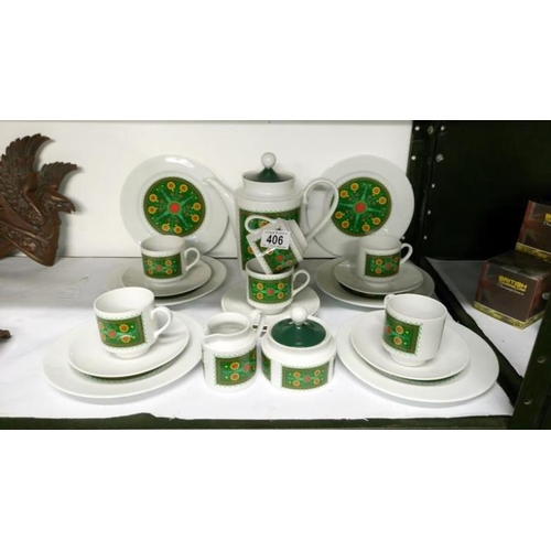 406 - A 1960's retro coffee set by Schumann Arzberg, Bavaria, Germany...