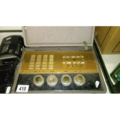 410 - A vintage Pye suitcase radio and 2 others...