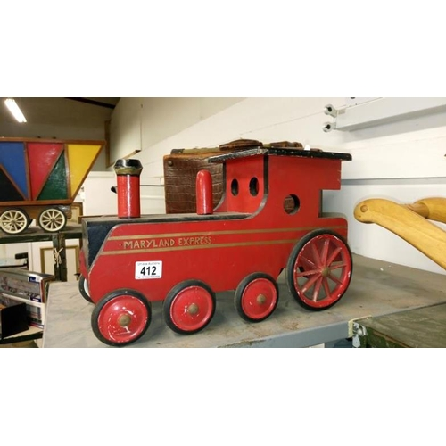 412 - A good scratch model of a steam engine 'The Maryland Express'...