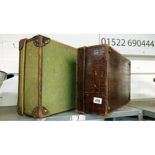 419 - 2 vintage suitcases...