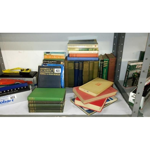423 - A large quantity of topographic books...