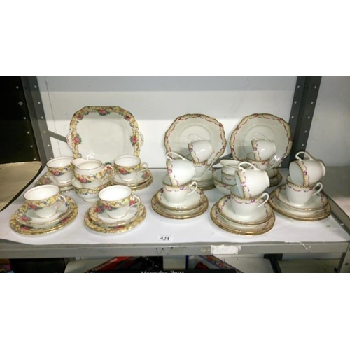 424 - 2 part tea sets including Aynsley...