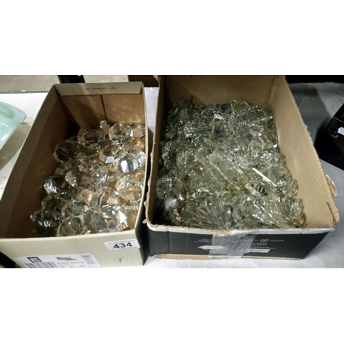 434 - A quantity of chandelier droppers...