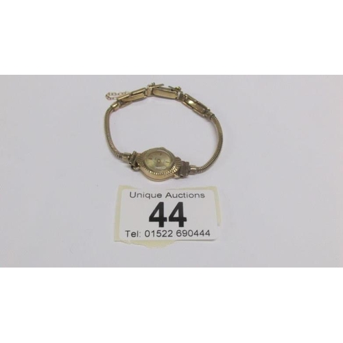 44 - A ladies gold Accurist wrist watch...