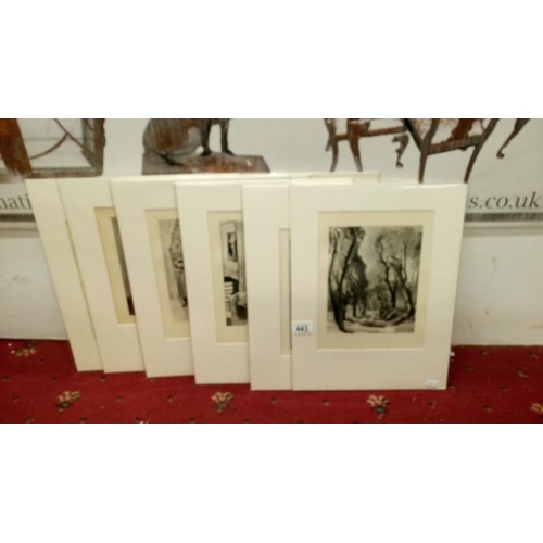 443 - 10 Henri Matisse black and white plates, circa 1930 (all approx. 16'' x 12'') mounted and sealed...
