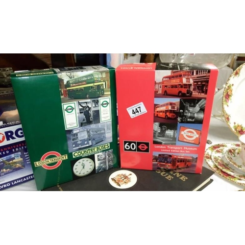 447 - 2 EFE model sets of London transport and country buses...