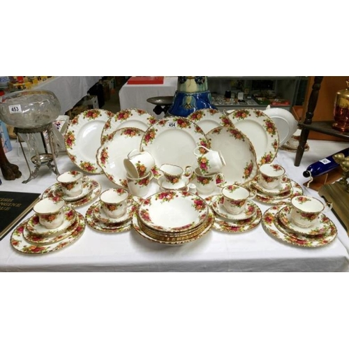 454 - Approximately 45 pieces of Royal Albert Old Country Roses tea and dinner ware...