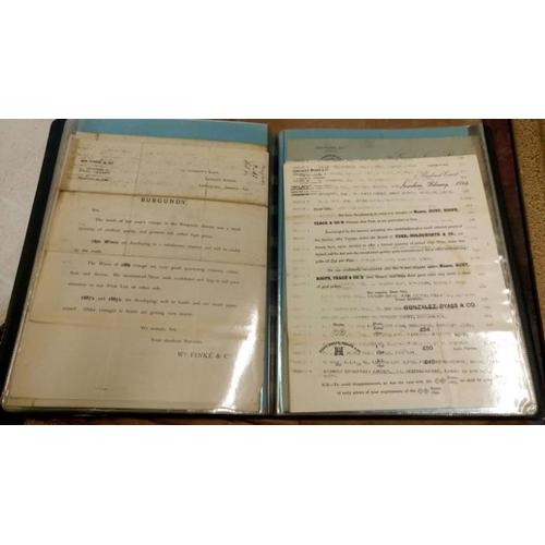 459 - An album of various wine receipts...