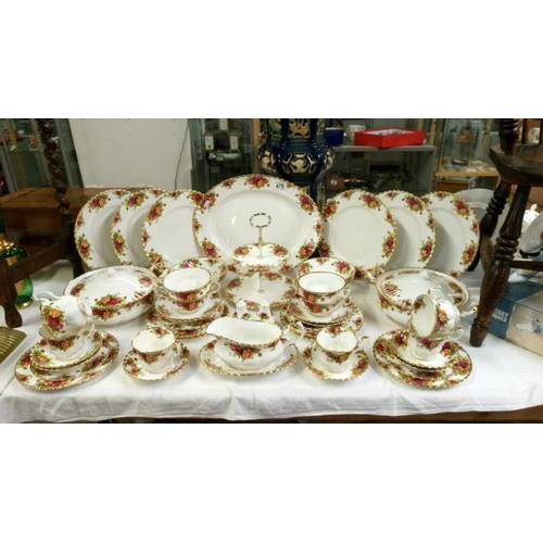 479 - Approximately 50 pieces of Royal Albert Old Country Roses tea and dinner ware...