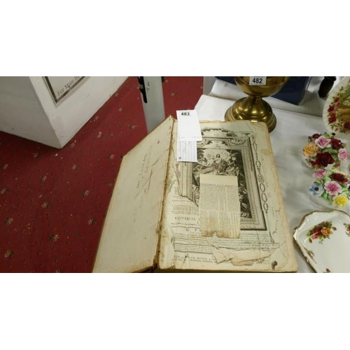 483 - An 18th century family bible by Paul Wright...