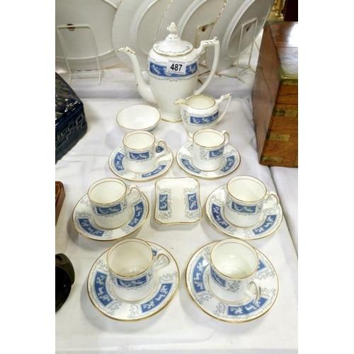 487 - A Coalport coffee set...