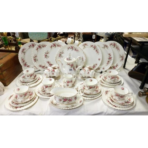 490 - Approximately 50 pieces of Royal Albert Lavender Rose tea and dinner ware...