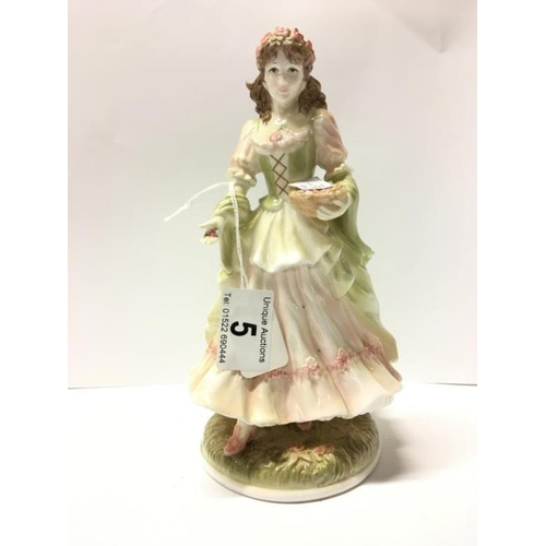 5 - A Royal Worcester limited edition figurine 'Queen of May'...
