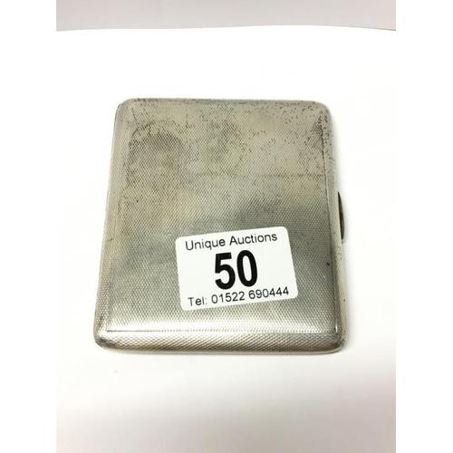 50 - A silver cigarette case...