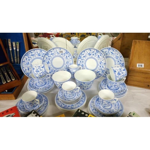 516 - A Royal Crown Derby tea set of approximately 45 pieces...