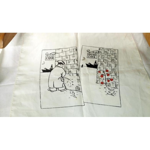 526 - 5 silk handkerchiefs with comedy scenes...