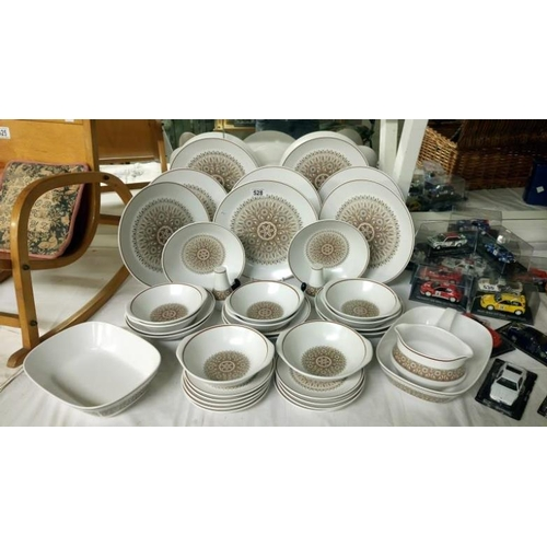 528 - A Noritake 'progression' dinner set, approximately 38 pieces...