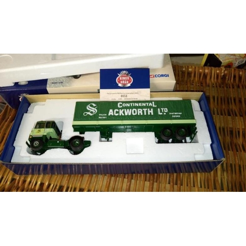 535 - A boxed Corgi CC12602 and CC12603 Eastern BRS Ackworth Ltd commercial vehicles...