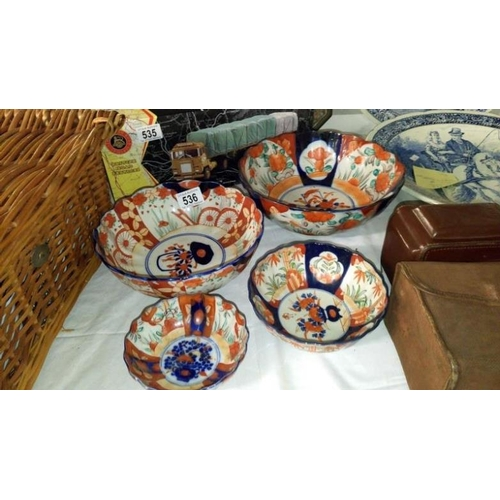 536 - 4 graduated oriental bowls...