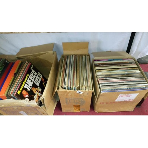 549 - 3 boxes of various LP records...