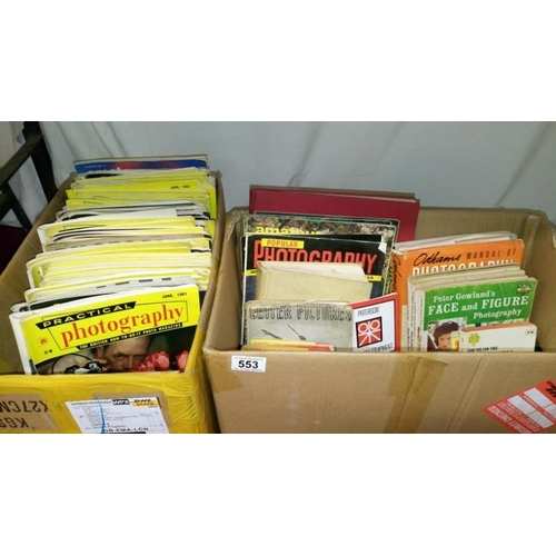 553 - A large quantity of 1950/60's photography magazines and books...