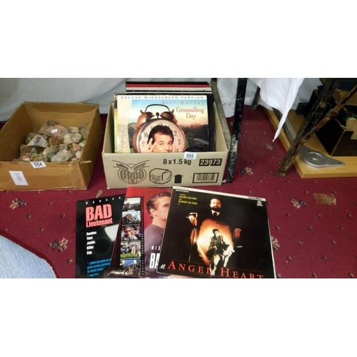 555 - A quantity of laser disc films including Terminator, Lost World etc...