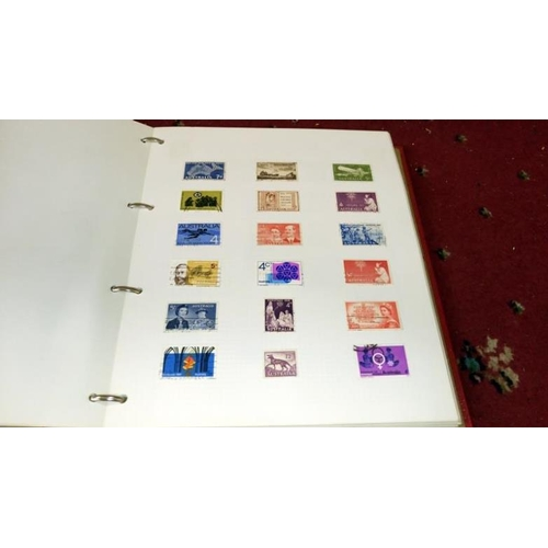557 - 7 albums of world stamsp, a quantity of loose sheet stamps and  a quantity of stamp reference books ...