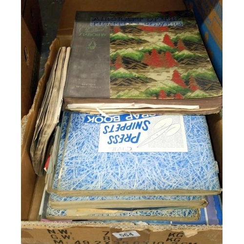 564 - A box of aeronautical scrap books...