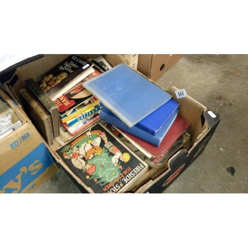 566 - A box of history and military books...