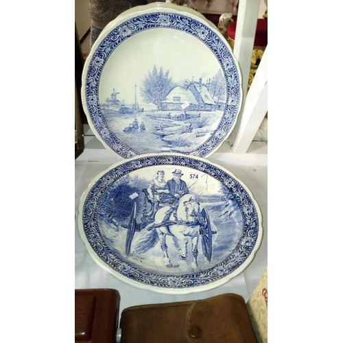 574 - A pair of Delft chargers...