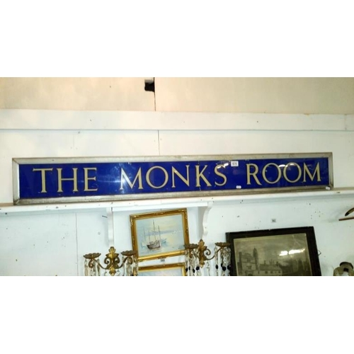 575 - 'The Monk's Room' sign...
