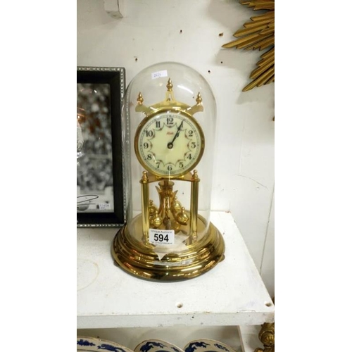 594 - A Kundo anniversary clock...