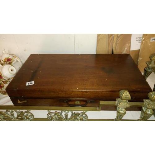 596 - A Victorian mahogany telescope box...