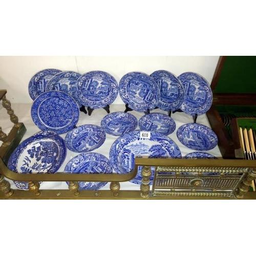 600 - A quantity of Copeland Spode Italian plates...
