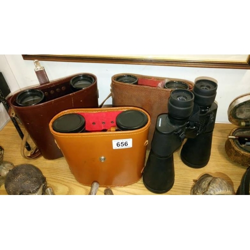 656 - 4 good quality pairs of binoculars including Carl Zeiss...