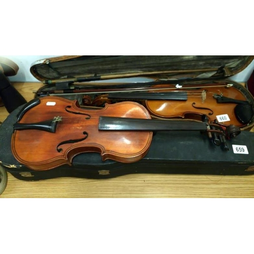 659 - A superb quality 19th century German violin...